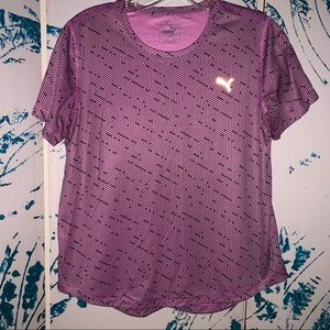 Women's Pink Puma Athletic Shirt
